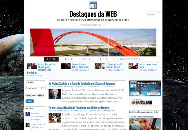 Destaques da WEB